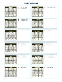 free 2019 yearly calendar download printable annual