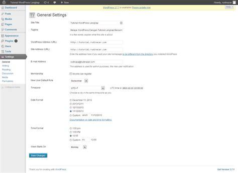 tutorial wordpress dasar tutorial dasar wordpress