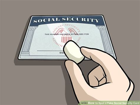 3 Ways To Spot A Fake Social Security Card Wikihow Social Security Card Template Generator