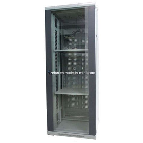 Tempered Glass Cabinet Doors China 19 Quot Standard Server Cabinet Tempered Glass Door Etst 8942 China Network Cabinet
