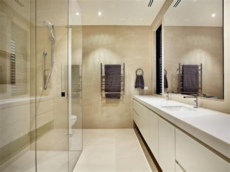 galley bathroom modern bathroom design with twin basins using glass