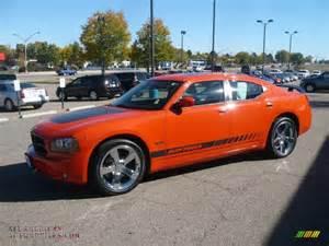 2008 dodge charger r t daytona in hemi orange pearl photo