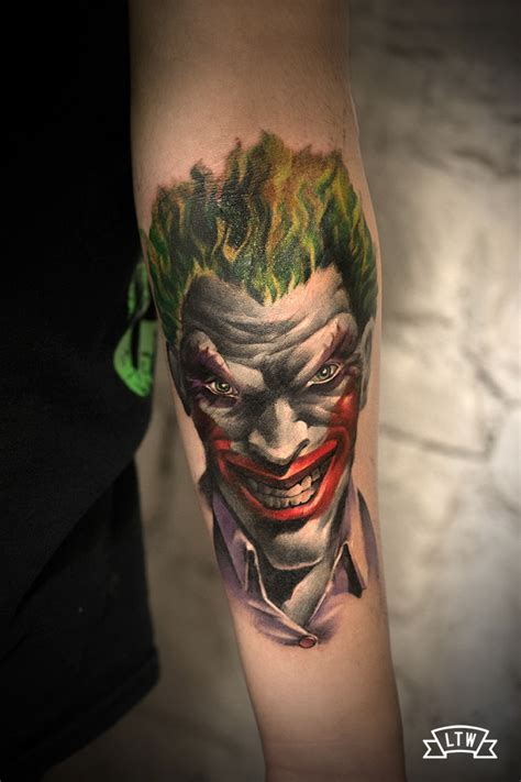 joker tattoo by jon pall