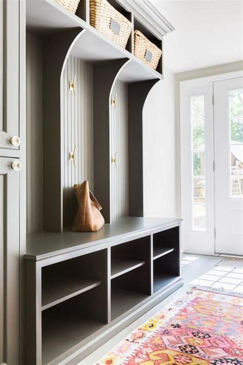 Entryway Locker Plans 32 Small Mudroom And Entryway Storage Ideas Shelterness