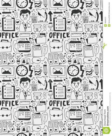 doodle elements 190 office elements doodles line icon eps10 stock