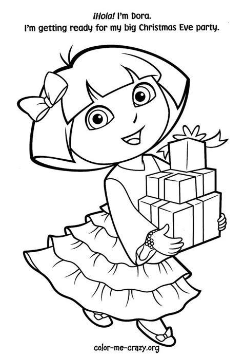 christmas coloring pages of dora the explorer 102 best images about christmas coloring pages on