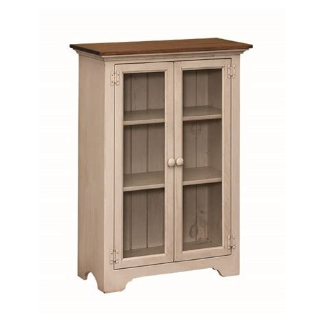 Pine Small Bookcase With Glass Doors Amish Pine Small Pine Bookcase With Doors