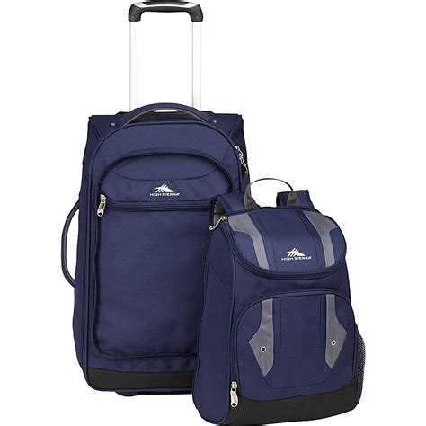 Backpack Set 4 In 1 high adventure access carry on wheeled backpack rolling backpack new ebay