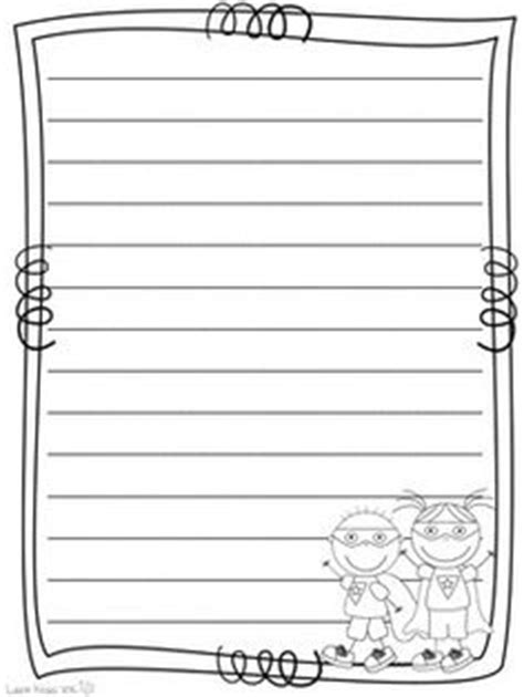 printable heroes guide summer lined writing paper set of 4 summer writing