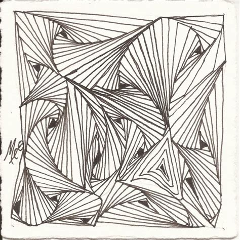 ken pattern art sale quot the eyes have it quot zentangle 174 monotangle based on rick s