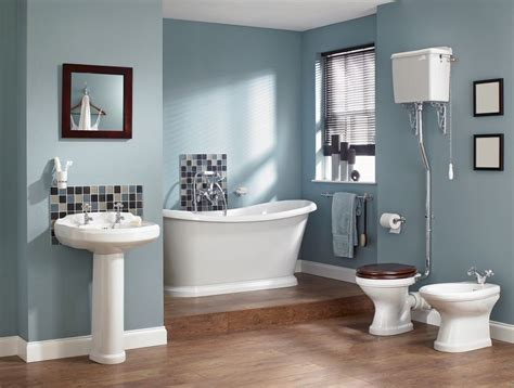 beautiful blue bathrooms    home