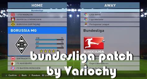 Patch All Liga pes 2016 bundesliga patch by variochy pes patch