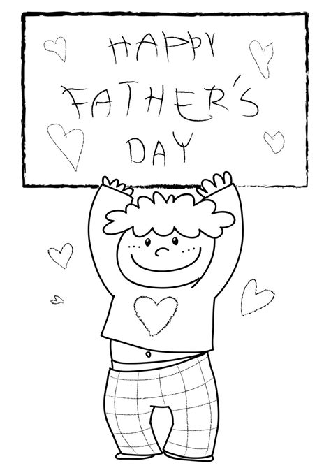 coloring page father s day card fathers day card coloring pages free large images