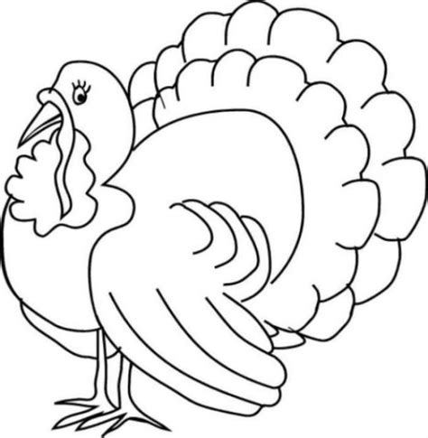 Thanksgiving Turkey Coloring Pages For Free Happy Turkey Coloring Pages For