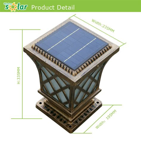 solar gate lights new products china ce 4w solar panel solar gate