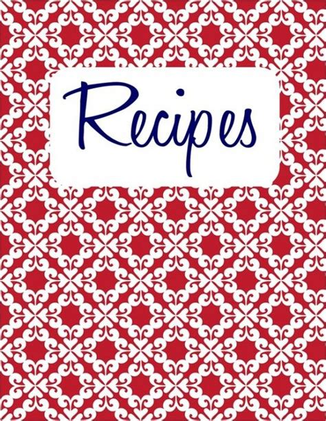 Recipe Book Cover Template Free 1000 ideas about binder templates on