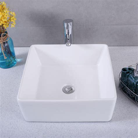 square bathroom vanity sink square bathroom porcelain vessel vanity sink white ceramic