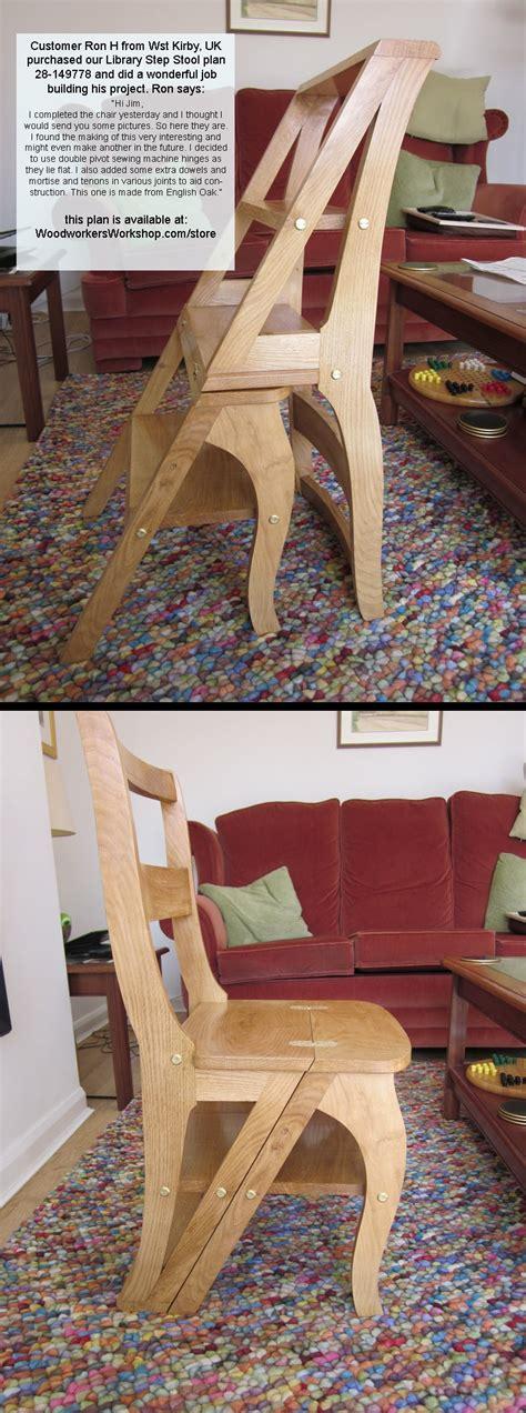 library step stool woodworking plan woodworkersworkshop