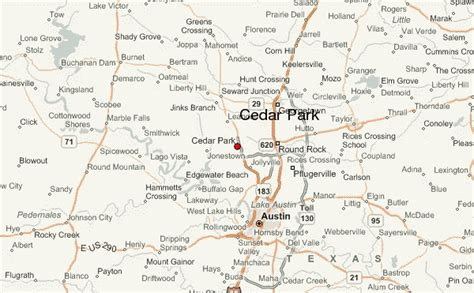 cedar park texas map cedar park location guide