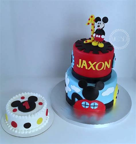 Valentine Home Decorating Ideas by Mickey Mouse Cake Amp Smash Cake Cakecentral Com