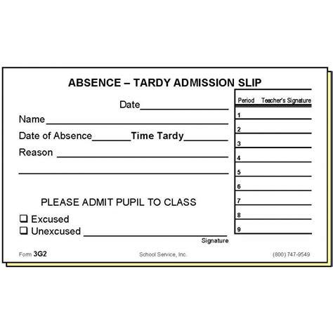 Tardy Log Printable