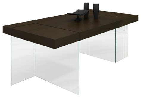 Floating Dining Table Aura Modern Floating Tobacco Dining Table Modern Dining Tables Los Angeles By La