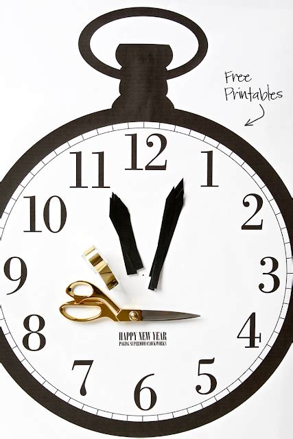 printable new years eve clock new year s eve ideas for kids crafting in the rain