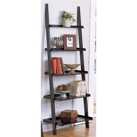 poundex 5 tier wall shelf in black f4627