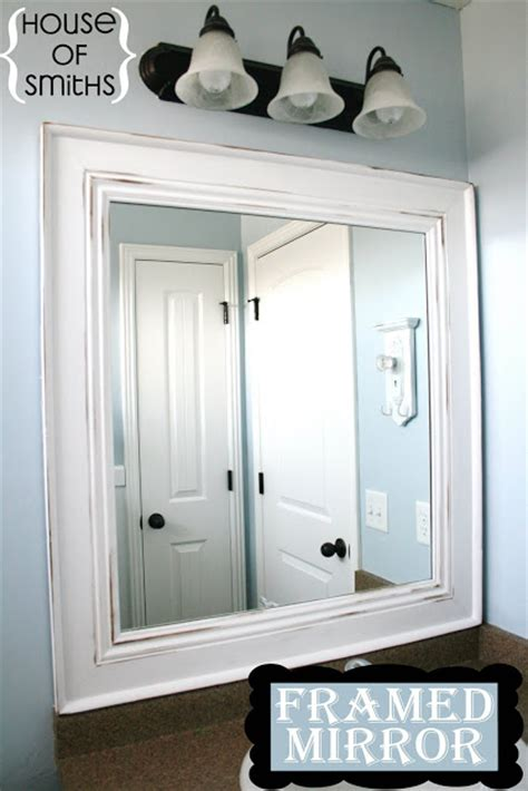 framed bathroom mirrors diy diy framed mirror tutorial