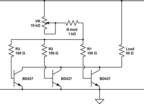 resistor in parallel with transistor transistors in parallel electrical engineering stack exchange