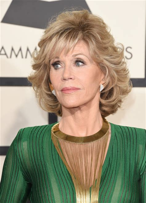hair color and cut for woman 57 yrs old jane fonda photos 57th grammy awards arrivals 1486