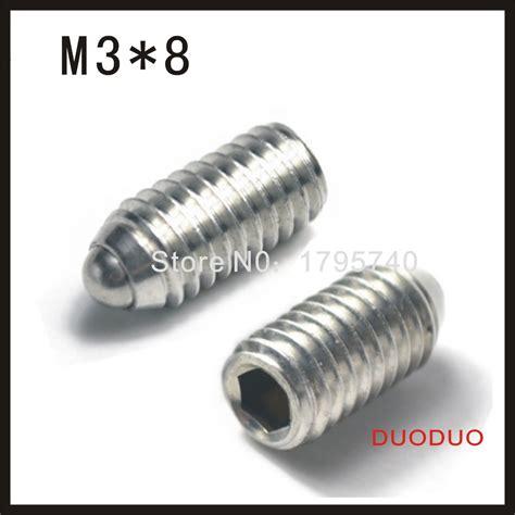 1 Pcs M3 M3x10 10mm Stainless Steel Hex 30pcs lot pieces m3 x 8mm m3 8 304 stainless steel hex socket plunger set