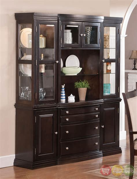 Transitional Dining Room Hutch Tony Transitional Wood Formal Dining Set With Buffet