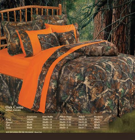 orange camo bedding pungo ridge luxury oak camo comforter set oak camo cm1001