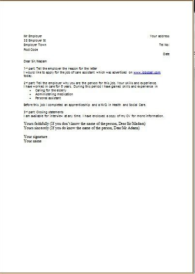 elegant exle of covering letter to go with cv 42 in