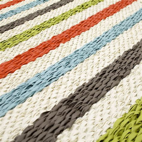 Swedish Plastic Woven Rugs by Pappelina Rug Corridor Rug Lapadd