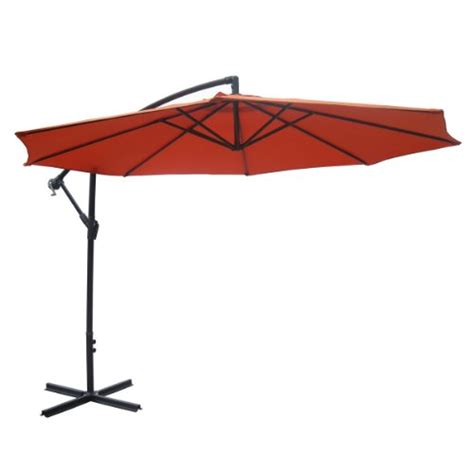 10 Ft Offset Patio Umbrella 10 Ft Wine Aluminum Patio Offset Umbrella 129 99