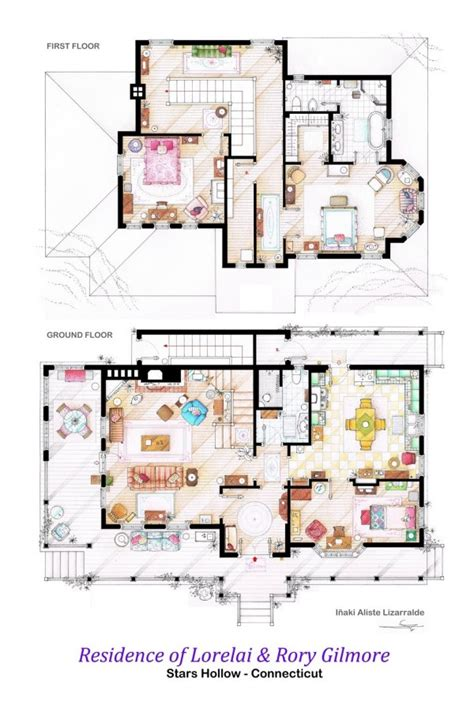Can T Pick Your Family The Houses From The Gilmore Girls Floor Plan Harpers House