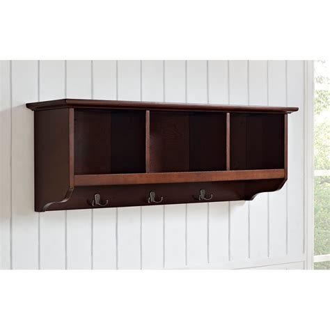 foyer storage entryway storage shelf brown stabbedinback foyer