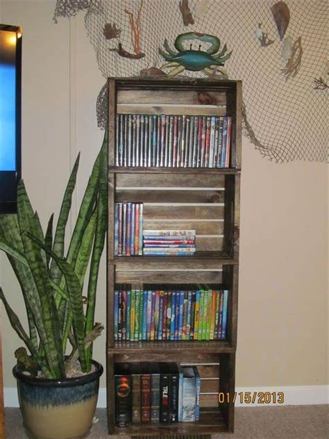 diy crate bookshelf pallet furniture diy