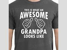 Fathers Day Gift AWESOME GRANDPA Mens T shirt Gifts For Dad Granddad T