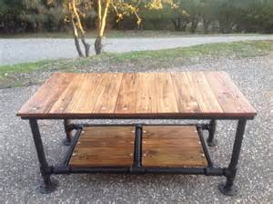 Black Iron Pipe Table by Reclaimed Wood Coffee Table With By