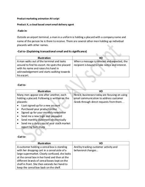 promotional script template av script sle