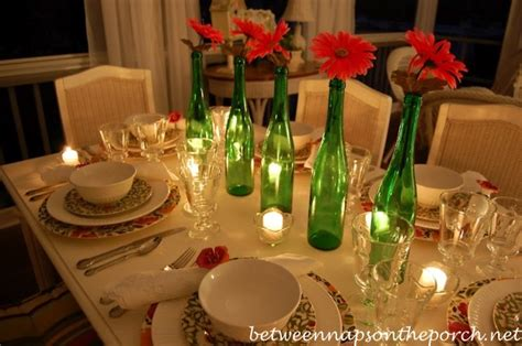 summer table setting tablescape with s garland dishware dragonfly napkin rings and