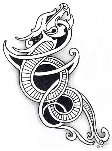 norse dragon tattoo designs anglo saxon and viking ideas etc big