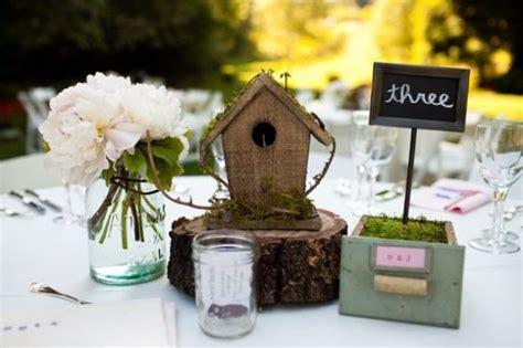 birdhouses for centerpieces reception project wedding