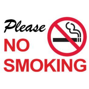 no smoking sign function huurvoorwaarden