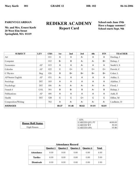 result card template sle report card template real result card for high school
