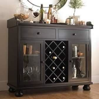 bar console worn black wine bar console stemware glasses spirits storage 695002