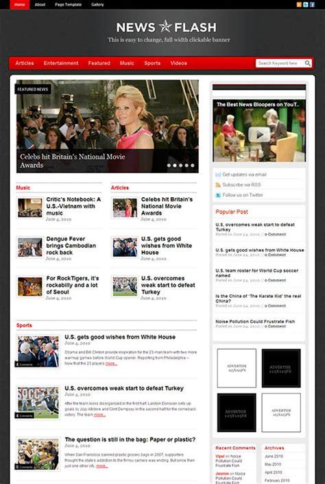 newspaper theme word 2010 news flash premium wordpress theme